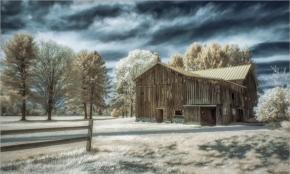 Winter Barn by Gayle Winslow